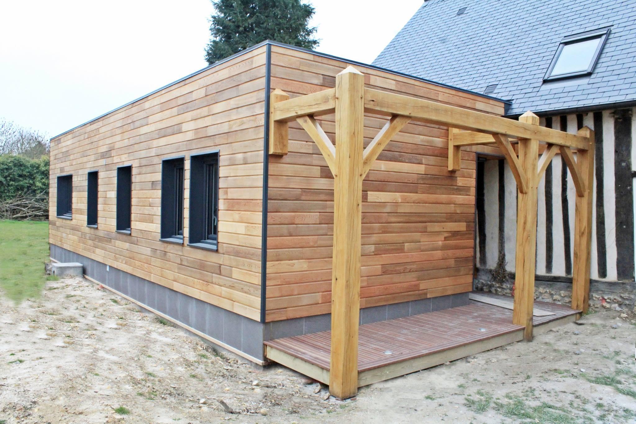 Ossature bois alliance bois construction - Extension maison ossature bois ...